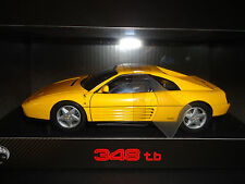 Hotwheels Elite Ferrari 348 TB 1989 Yellow 1/18