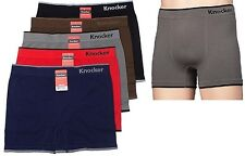 6pk Mens Seamless MS002 Boxer Briefs Short Microfiber Underwear Knocker #2