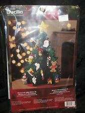 NEW BUCILLA 84976 3D ADVENT TREE TABLETOP KIT 11 x 16 FELT -ORNAMENTS- CHRISTMAS