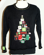 Tiara International Christmas Collection Women's Sweater Size M Gift Ugly Sequin