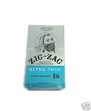 Zig Zag Ultra Thin 1 1/4 (1.25) CIGARETTE ROLLING PAPER 24 Booklet Packs