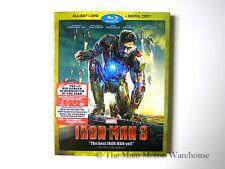 Marvel Iron Man 3 Three Blu Blu-ray DVD Digital Copy Tony Stark Robert Downey Jr