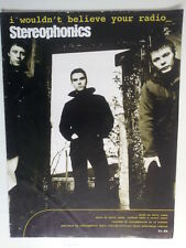 song sheet I WOULDN T BELIEVE YOUR RADIO stereophonics