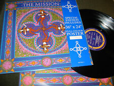 "The Mission V Uk Severina 12"" w/poster sisters of mercy oop goth rare"