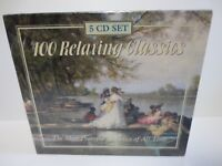 100 RELAXING CLASSICS ~ 6 HOURS OF MUSIC ~ 1999 CASTLE MUSIC ~ 5-CD SET ~ NEW