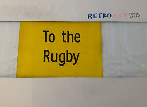 "To The Rugby - Bournemouth Destination Bus Blind 13""x11"" Present Gift Twickenham"