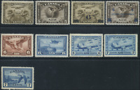 Canada #C1-C9 mint F to VF OG NH 1928-1946 Air Mail Issue Complete Set CV$306.75