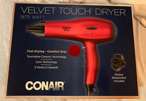 Conair Velvet Touch Styler Hair Dryer Quick Drying Ceramic Technology  (V1)