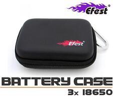 New Efest 3x 18650 Battery Box Battery Case