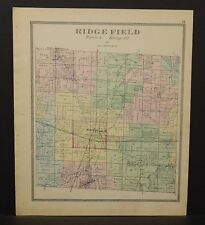 Ohio Huron County Ridge Field Township 1891  !Y14#86