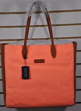 NWT Women's Ralph Lauren Golf, Cotton CANVAS TOTE BAG w/ Leather Patches. $198