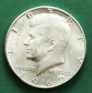 USA 1969D Kennedy Silver HALF Dollar UNC Coin