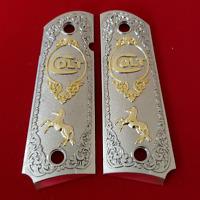 Luxury For COLT 1911 38 - 45 FULL SIZE GRIPS AMBI  COLT RAMPANT Free Colt Bag