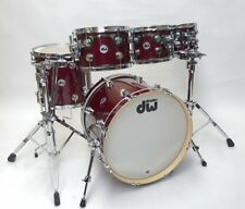 DW Collector's Maple 5pc Shell Pack, Ruby Glass - Pre-owned