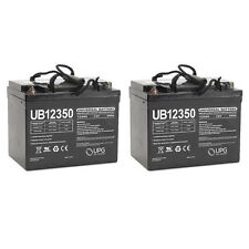 UPG UB12350 12V 35AH Internal Thread Battery for Rascal 600T Scooter - 2 Pack