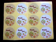 100 pcs new Thank you colours tree sticker design seal gift packing impress