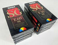 8 x Konica Super SG Blank VHS Video Cassette Tapes 4x E-60, 4x E-30 New & Sealed