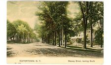 Watertown NY - MASSEY STREET LOOKING SOUTH - Postcard