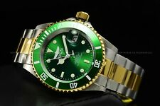 INVICTA Men 40mm Pro Diver Automatic NH35A Two Tone Green Dial Bracelet Watch