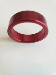 """ORIGIN8 ALLOY 10mm x 1-1/8""""  ANODIZED RED BICYCLE HEADSET SPACER"""