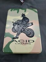 Acid Cigars Tin Camo Biker Military 7x5x2.5