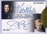 Star Trek Voyager Heroes & Villains Kate Mulgrew & Jeri Ryan Dual Autograph Card