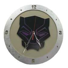 "Unique Black Panther 14"" Wall Clock Fan Inspired and Handmade in USA"