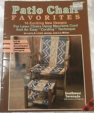 Vintage 1989 Macrame Patio Chair Favorites Pattern Book 14 Southwest Designs