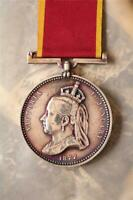 QUEEN VICTORIA EMPRESS INDIA SILVER CIVILIAN MILITARY MEDAL AWARD DECORATION