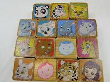 15 WOOD Blocks Garanimals Animals 32245 Toy Block Building Shapes