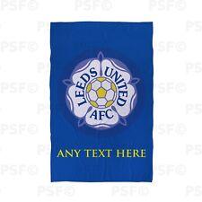 Leeds United FC Official Personalised Yorkshire Rose Badge Beach Towel Lbt008