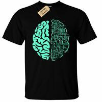 Electric Brain T-Shirt Mens computer nerd science circuit board