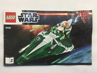 Lego Star Wars 9498 Saesee Tiins Jedi Starfighter INSTRUCTION MANUAL BOOK 2 ONLY