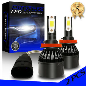 Protekz 9006 HB4 80W 8000LM LED Headlight w/ TX1860 Chip 6000K Low Beam Bulbs