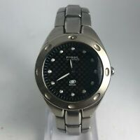 Vintage Fossil Mid-size Blue AM-3351 Silver Tone Analog Quartz Wristwatch