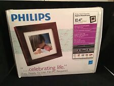 "Philips Digital Photo Frame 10.4"" LCD Panel Brown Wood Frame Mod. SPF3400/G7"
