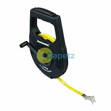 Fast Rewind Geared Surveyors Measuring Tape 100m Measure With Magnetic Hook Clip