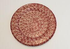 Henn Pottery Cranberry red spongewear luncheon dinner plate 10 inches (E)