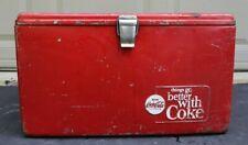1950's VINTAGE Coca Cola PICNIC Cooler Progress REFRIGERATOR CO. LOUISVILLE KY