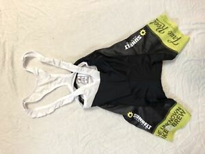 XS Women's Bike MS Hincapie Max Cycling Bib Short Black/Neon Green CLOSEOUT