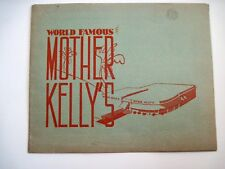 "1949 B&W Photo In a Souvenir Frame World Famous ""Mother Kelly's Restaurant"" *"