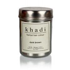 Khadi Natural Dark Brown Herbal Hair Colour 150g Free Shipping