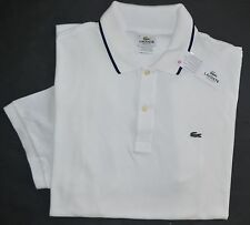 New Lacoste Medium 5 Lacoste Men's short sleeve polo shirt solid white top NWT