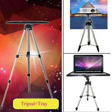 Adjustable 55-140cm Laptop Computer Projector Tripod Stand Mount+Tray Holder