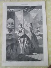 Vintage HARPER'S WEEKLY PRINT,Mar.5,1864,ANYTHING For ME,Please?P.O. W.HOMER