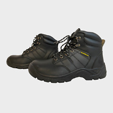 EARTHWORKS Mens Safety Boots Size UK 8 EU 42 Black industrial Factory Work Shoes