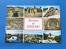 Vintage Post Cards Postcard Souvenir of Jericho City Of Palms Jordan Valley 1977