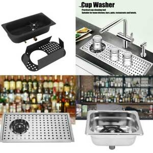 Auto Cup Washer Cleaner Male Thread Bar Glasses Rinser for Hotel Cafe Restaurant