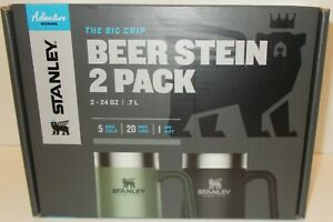 The Big Grip Beer Stein 2 Pack Stanley Adventure 24oz Stainless Steel Hot & Cold