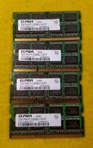 LOT OF 4: ELPIDA 2GB 2Rx8 PC3-8500S-7-05-FP Memory